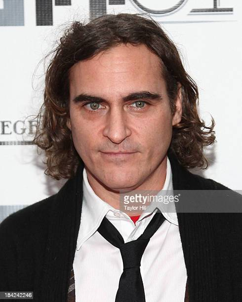 Actor Joaquin Phoenix attends the Closing Night Gala Presentation Of 'Her' during the 51st New York Film Festival at Alice Tully Hall at Lincoln...