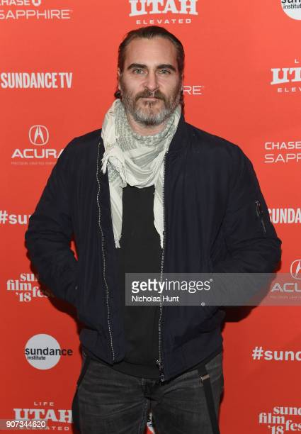Actor Joaquin Phoenix attends the 'Don't Worry He Won't Get Far On Foot' Premiere during the 2018 Sundance Film Festival at Eccles Center Theatre on...