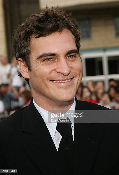 Actor Joaquin Phoenix attends the gala premiere of 'Walk The Line' at Roy Thomson Hall during the 2005 Toronto International Film Festival September...