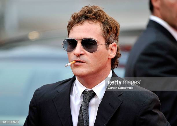Actor Joaquin Phoenix attends The Master Premiere during The 69th Venice Film Festival at the Palazzo del Cinema on September 1 2012 in Venice Italy
