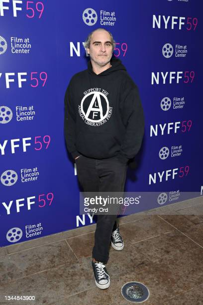 Actor Joaquin Phoenix attends the photo call for 'C'mon C'mon' during the 59th New York Film Festival at Elinor Bunin Munroe Film Center on October...
