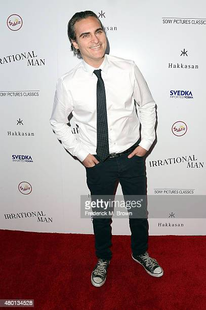 Actor Joaquin Phoenix attends the Premiere of Sony Pictures Classics' 'Irrational Man' at the Writer Guild of America Theatre on July 9 2015 in Los...