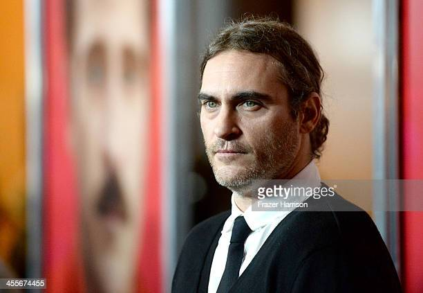 Actor Joaquin Phoenix attends the premiere of Warner Bros Pictures Her at DGA Theater on December 12 2013 in Los Angeles California