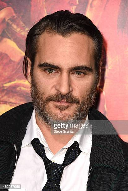 Actor Joaquin Phoenix attends the premiere of Warner Bros Pictures' 'Inherent Vice' at TCL Chinese Theatre on December 10 2014 in Hollywood California