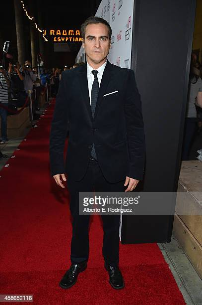 Actor Joaquin Phoenix attends the screening of 'Inherent Vice' during AFI FEST 2014 presented by Audi at the Egyptian Theatre on November 8 2014 in...