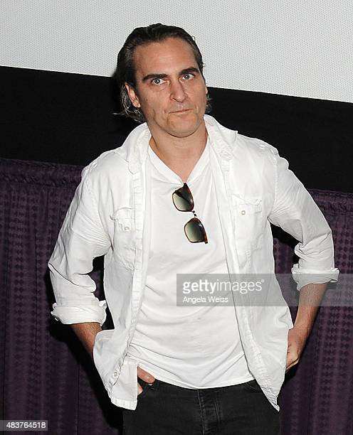 Actor Joaquin Phoenix attends the screening of Unity directed by Shaun Monson at Universal CityWalk on August 12 2015 in Universal City California