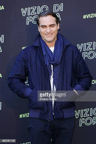 Actor Joaquin Phoenix attends the 'Vizio Di Forma Inherent Vice' at Hotel De Russie on January 26 2015 in Rome Italy