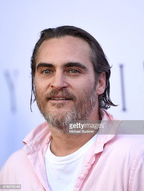 Actor Joaquin Phoenix attends the world premiere of 'UNITY' at the DGA Theater on June 24 2015 in Los Angeles California