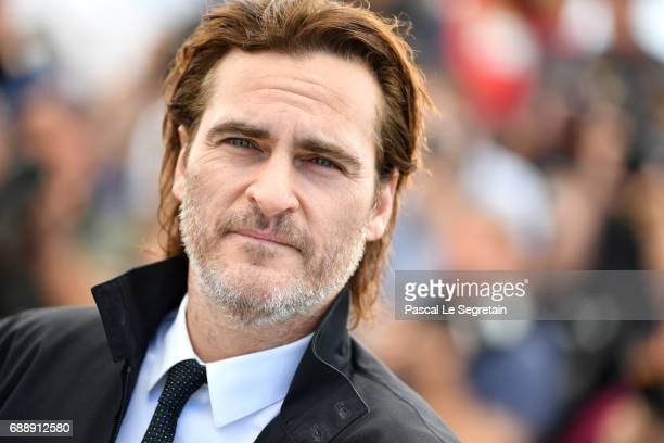 Actor Joaquin Phoenix attends the 'You Were Never Really Here' photocall during the 70th annual Cannes Film Festival at Palais des Festivals on May...