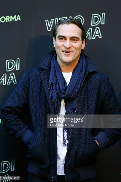 Actor Joaquin Phoenix attends 'Vizio Di Forma Inherent Vice' photocall at Hotel De Russie on January 26 2015 in Rome Italy