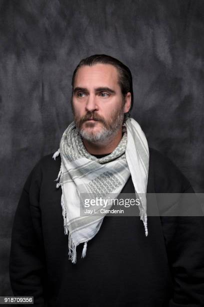 Actor Joaquin Phoenix from the film 'Don't Worry He Won't Get Far on Foot' is photographed for Los Angeles Times on January 19 2018 in the LA Times...