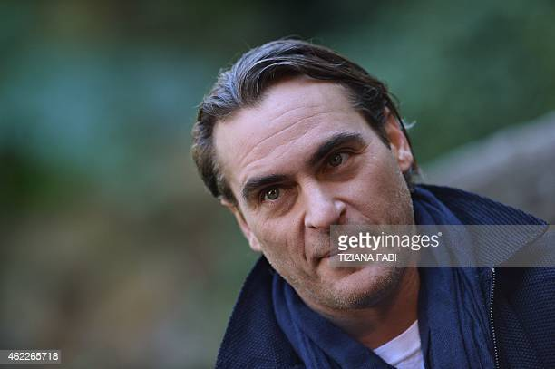 US actor Joaquin Phoenix poses during a photocall as part of the promotion of the movie Inherent Vice on 26 January 2015 in Rome Inherent Vice...