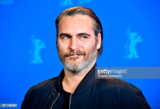 TOPSHOT US actor Joaquin Phoenix poses during the photo call for the film Don't Worry He Won't Get Far on Foot presented in competition of the 68th...