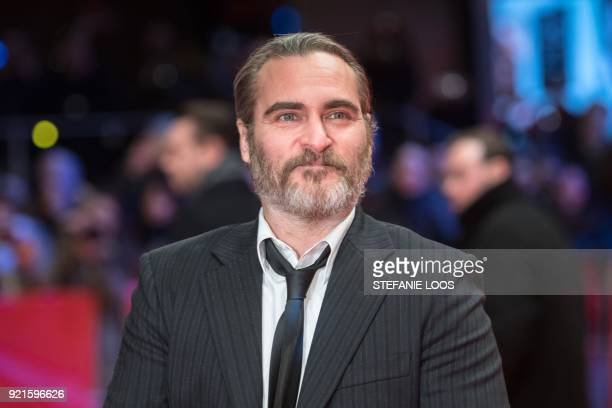 US actor Joaquin Phoenix poses on the red carpet upon arrival for the premiere of the film 'Don't Worry He Won't Get Far on Foot' presented in...