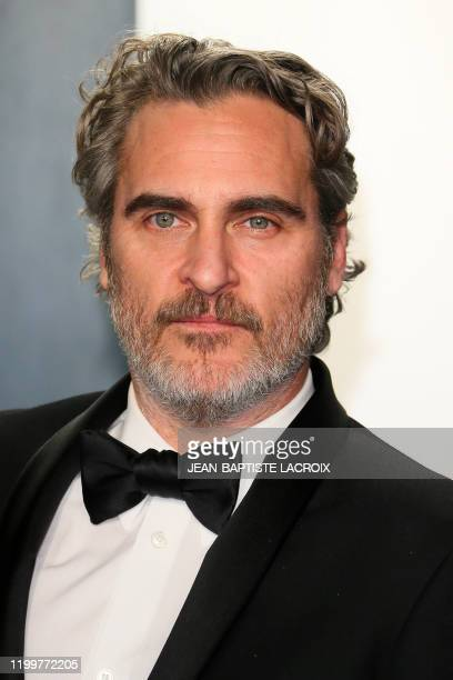 Actor Joaquin Phoenix, winner of the Oscar for Best Actor in a Leading Role, attends the 2020 Vanity Fair Oscar Party following the 92nd annual...