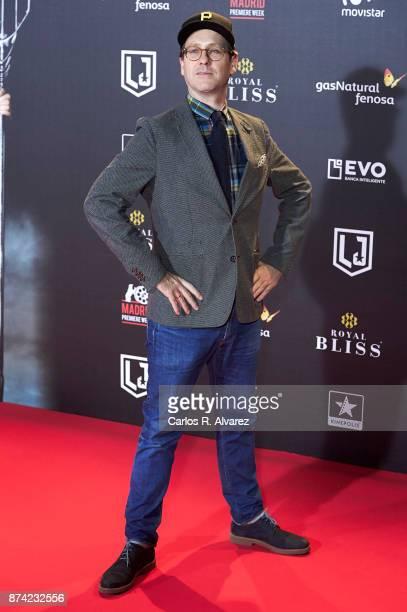 Actor Joaquin Reyes attends 'La Liga de La Justicia' premiere at the Kinepolis cinema on November 14 2017 in Madrid Spain