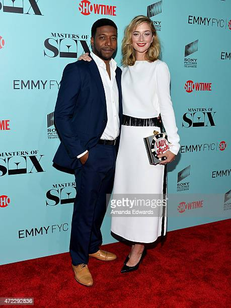 Actor Jocko Sims and actress Caitlin Fitzgerald arrive at the Masters Of Sex special screening hosted by Showtime And Sony Pictures Television at the...