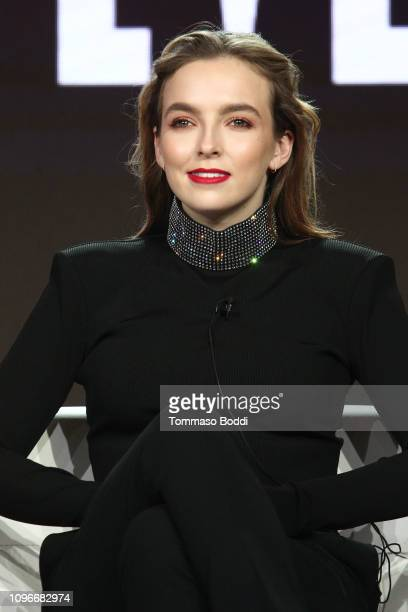 Actor Jodie Comer attends the Killing Eve panel during the BBC America/AMC portion of the 2019 Winter TCA on February 9 2019 in Pasadena California