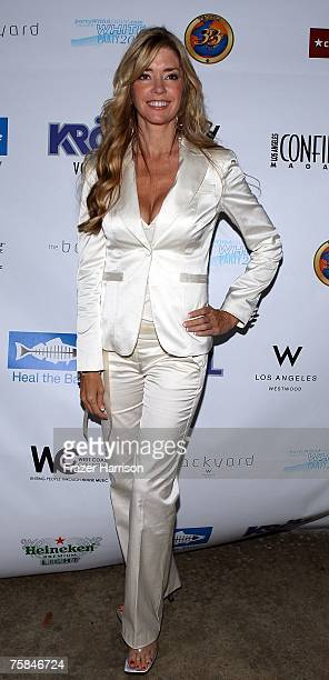 Actor Jodie Fisher arrives at the Party with a Cause hosted 2007 White Party benefiting Heal the Bay charity held at the W Hotel on July 28 2007 in...