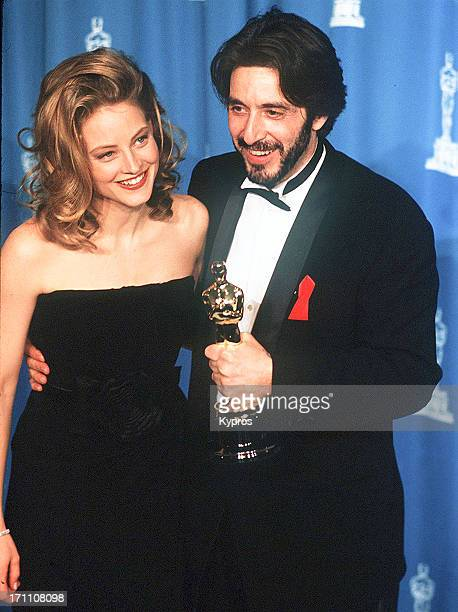 Actor Jodie Foster and Al Pacino during the 65th Annual Academy Awards at the Shrine Auditorium in Los Angeles California United States 29th March...