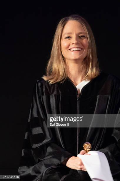 Actor Jodie Foster is honored at AFI's Conservatory Commencement Ceremony at TCL Chinese Theatre on June 11 2018 in Hollywood California
