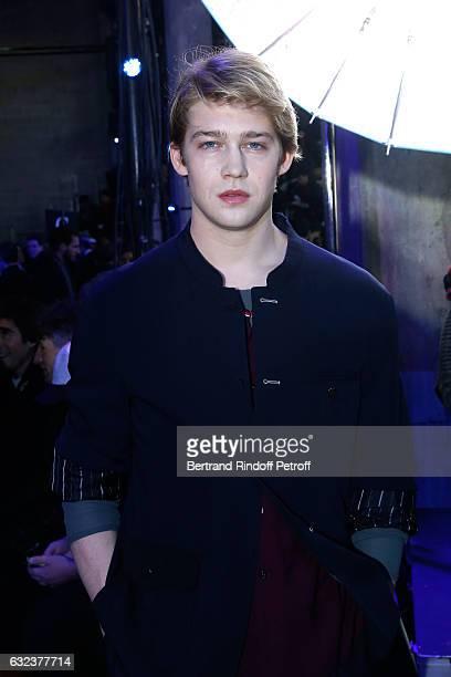 Actor Joe Alwyn attends the Lanvin Menswear Fall/Winter 20172018 show as part of Paris Fashion Week on January 22 2017 in Paris France