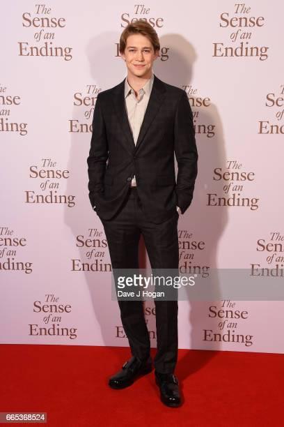 Actor Joe Alwyn attends The Sense of an Ending UK gala screening on April 6 2017 in London United Kingdom