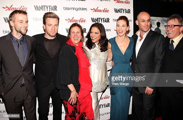 Actor Joe Anderson actor Ewan McGregor producer Lydia Pilcher director Mira Nair actress Hilary Swank producer Ted Waitt and guest attend the...