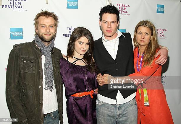Actor Joe Anderson Actress Eve Hewson David P Emrich Director Erica Dunton attend the premiere of 'The 27 Club' during the 2008 Tribeca Film Festival...