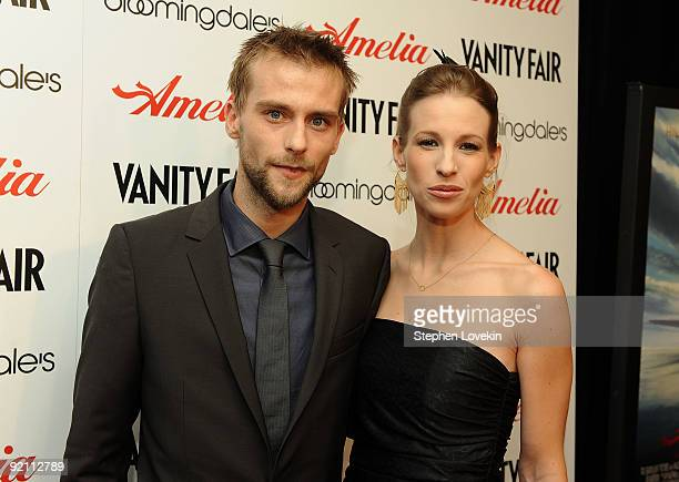 Actor Joe Anderson and Elle Anderson attend the premiere of Amelia at The Paris Theatre on October 20 2009 in New York City