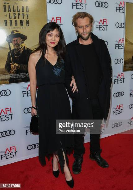 Actor Joe Anderson and Romy Park attend the screening of Ballad Of Lefty Brown for the AFI FEST 2017 presented by Audi at the Egyptian Theatre on...