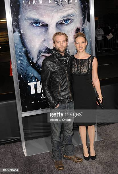 Actor Joe Anderson and wife Elle arrive for the Premiere Of Open Road's The Grey held at Regal Cinemas 14 @ LA Live on January 11 2012 in Los Angeles...