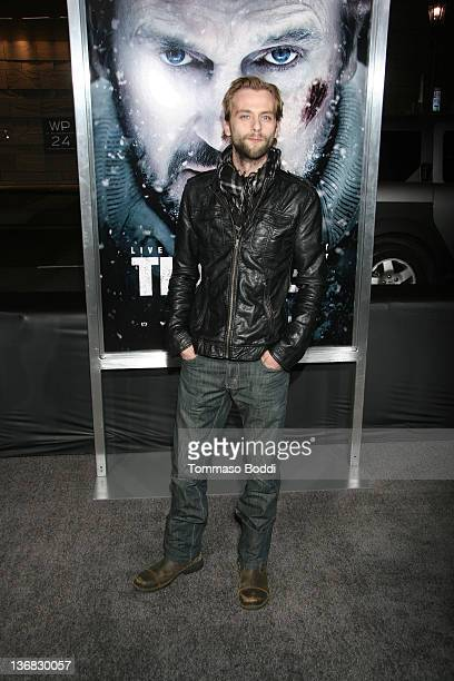 Actor Joe Anderson attends The Grey Los Angeles premiere held at the Regal Cinemas LA Live on January 11 2012 in Los Angeles California
