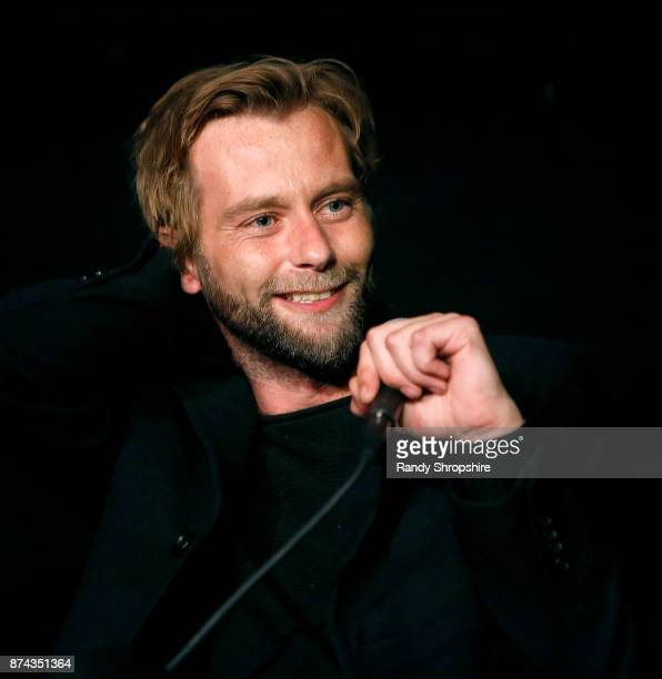 Actor Joe Anderson speaks on stage during AFI Fest's Los Angeles premiere of The Ballad Of Lefty Brown on November 14 2017 in Los Angeles California