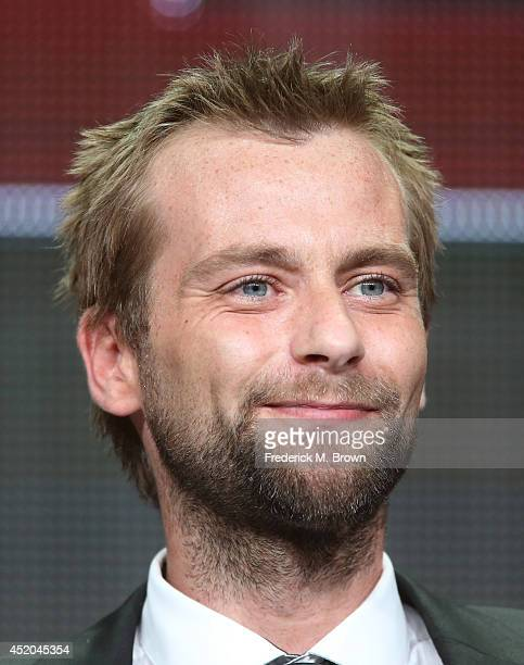 Actor Joe Anderson speaks onstage at the The Divide panel during the WE tv portion of the 2014 Summer Television Critics Association at The Beverly...