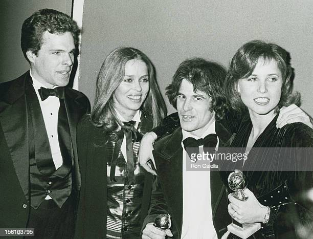 Actor Joe Bottoms actress Barbara Bach actor Brad Davis and actress Irene Miracle attend 36th Annual Golden Globe Awards on January 27 1979 at the...