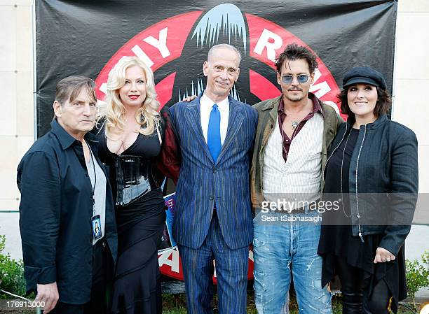 Actor Joe Dallesandro actress Traci Lords director John Waters actor Johnny Depp and actress Ricki Lake attend the9th Annual Johnny Ramone Tribute at...