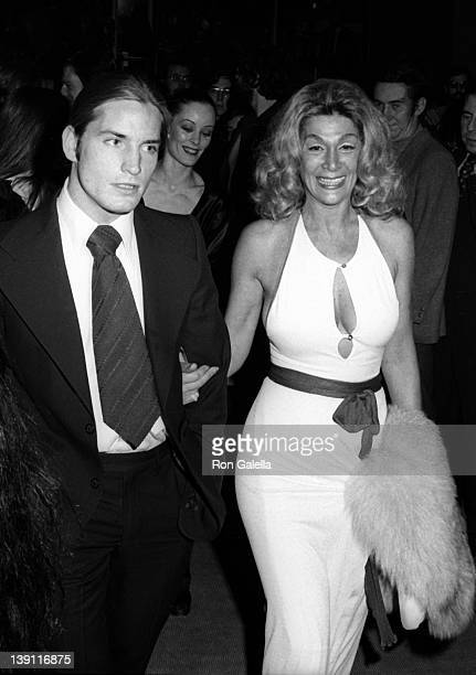 Actor Joe Dallesandro and Sylvia Miles attend the premiere party for Heat on October 5 1972 at Jerry's Restaurant in New York City