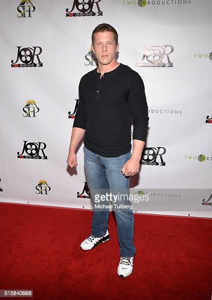 Actor Joe Filder attends the premiere of JR Productions' Halloweed at TCL Chinese 6 Theatres on March 15 2016 in Hollywood California