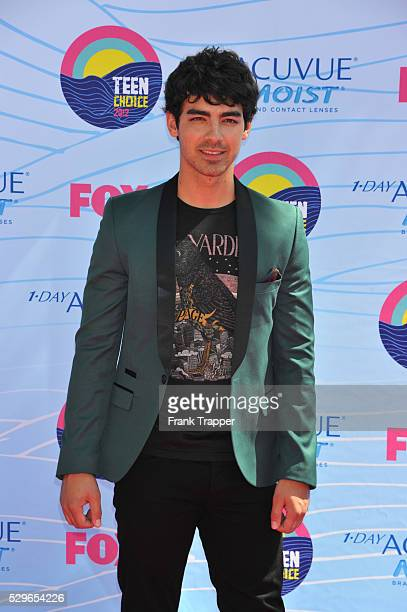 Actor Joe Jonas arrives at the 2012 Teen Choice Awards held at the Gibson Amphitheatre in Universal City California