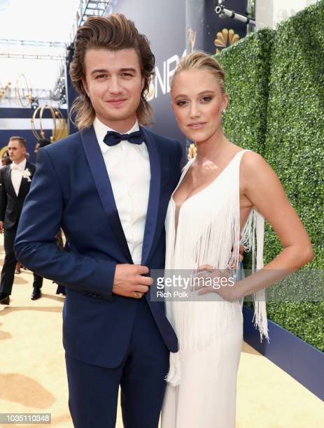 Actor Joe Keery and Maika Monroe attend the 70th Annual Primetime Emmy Awards at Microsoft Theater on September 17 2018 in Los Angeles California