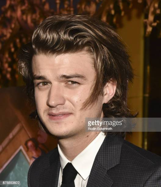 Actor Joe Keery arrives at the premiere of IFC Films' 'The Tribes of Palos Verdes' at The Theatre at Ace Hotel on November 17 2017 in Los Angeles...