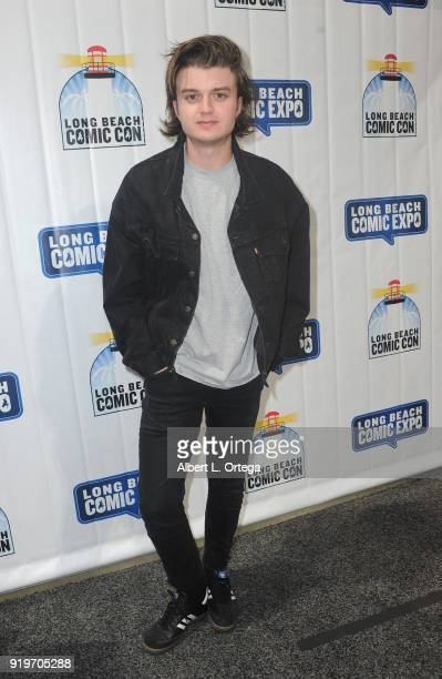 Actor Joe Keery attends day one of the 8th Annual Long Beach Comic Expo held at Long Beach Convention Center on February 17 2018 in Long Beach...