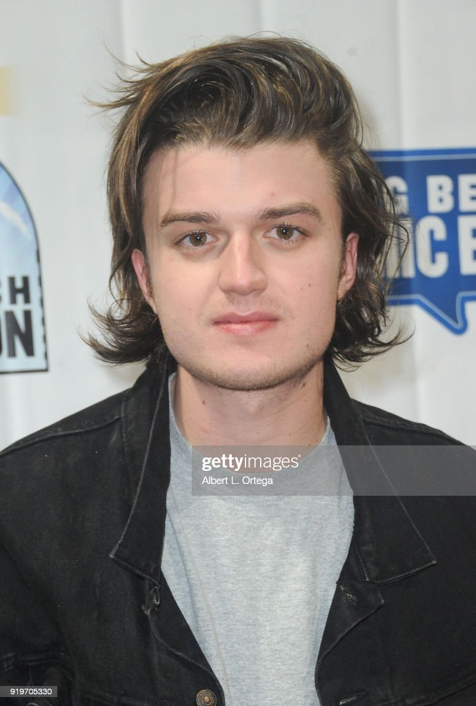 Actor Joe Keery attends day one of the 8th Annual Long Beach Comic Expo held at Long Beach Convention Center on February 17, 2018 in Long Beach, California.
