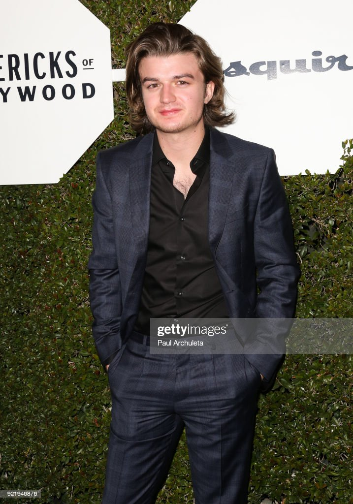 Actor Joe Keery attends Esquire's annual 'Maverick's Of Hollywood' event at Sunset Tower on February 20, 2018 in Los Angeles, California.