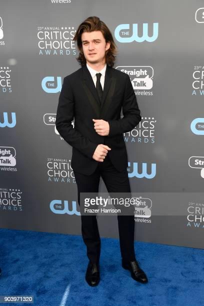 Actor Joe Keery attends The 23rd Annual Critics' Choice Awards at Barker Hangar on January 11 2018 in Santa Monica California