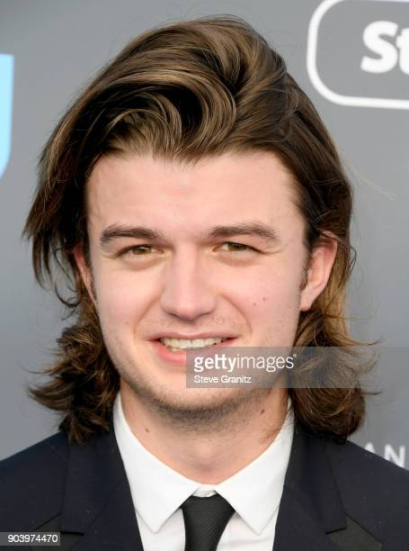 Actor Joe Keery attends The 23rd Annual Critics' Choice Awards at Barker Hangar on January 11 2018 in Santa Monica California