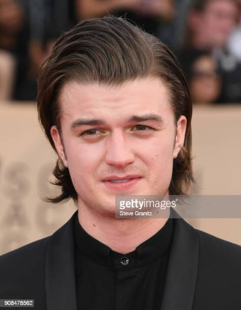 Actor Joe Keery attends the 24th Annual Screen ActorsGuild Awards at The Shrine Auditorium on January 21 2018 in Los Angeles California