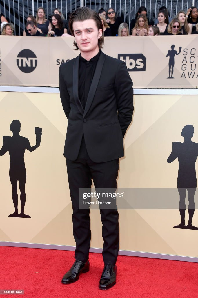 Actor Joe Keery attends the 24th Annual Screen Actors Guild Awards at The Shrine Auditorium on January 21, 2018 in Los Angeles, California.