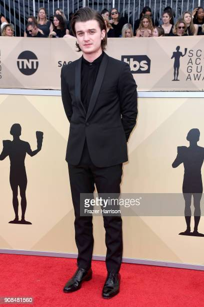 Actor Joe Keery attends the 24th Annual Screen Actors Guild Awards at The Shrine Auditorium on January 21 2018 in Los Angeles California